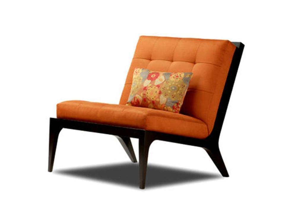 Image of: Tufted Armless Chair