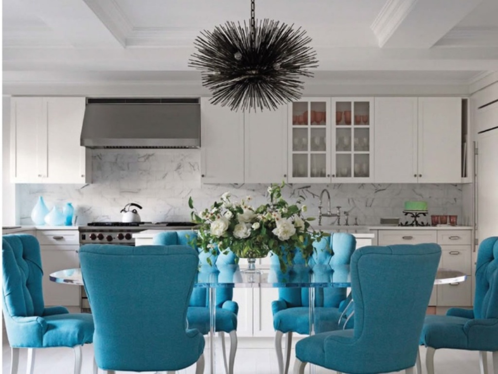 Image of: tufted dining chairs ideas