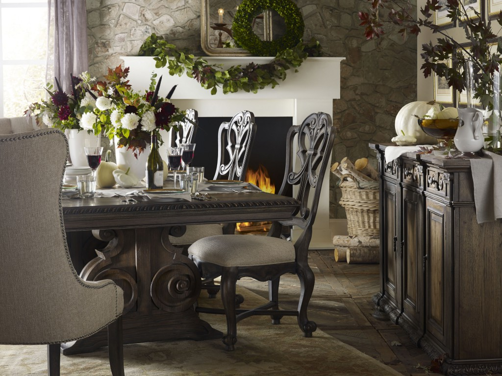 Image of: tufted dining chairs image