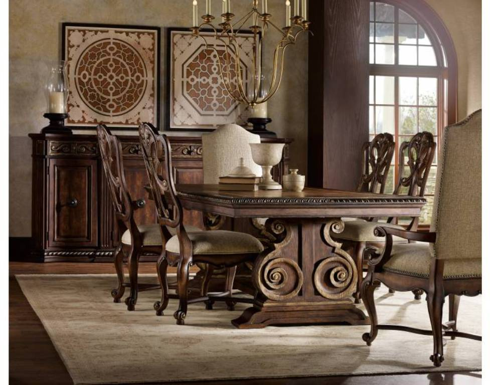 Image of: tufted dining chairs nail heads