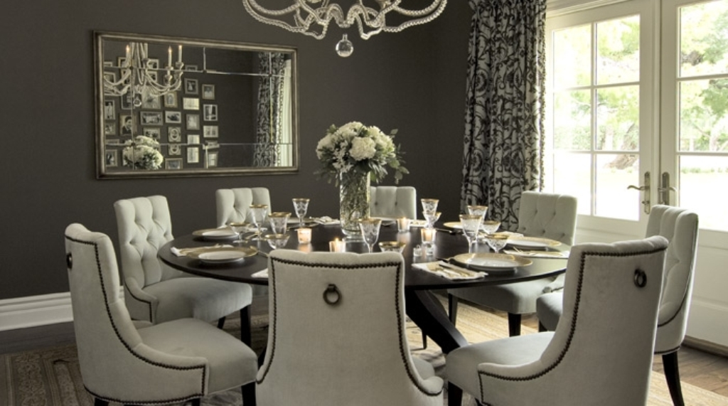 Image of: tufted dining chairs target