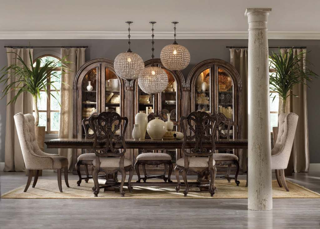Image of: tufted dining chairs with nail head trim