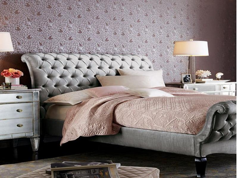 Image of: Tufted Headboards and Wall Art Design