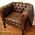 tufted leather chair sale
