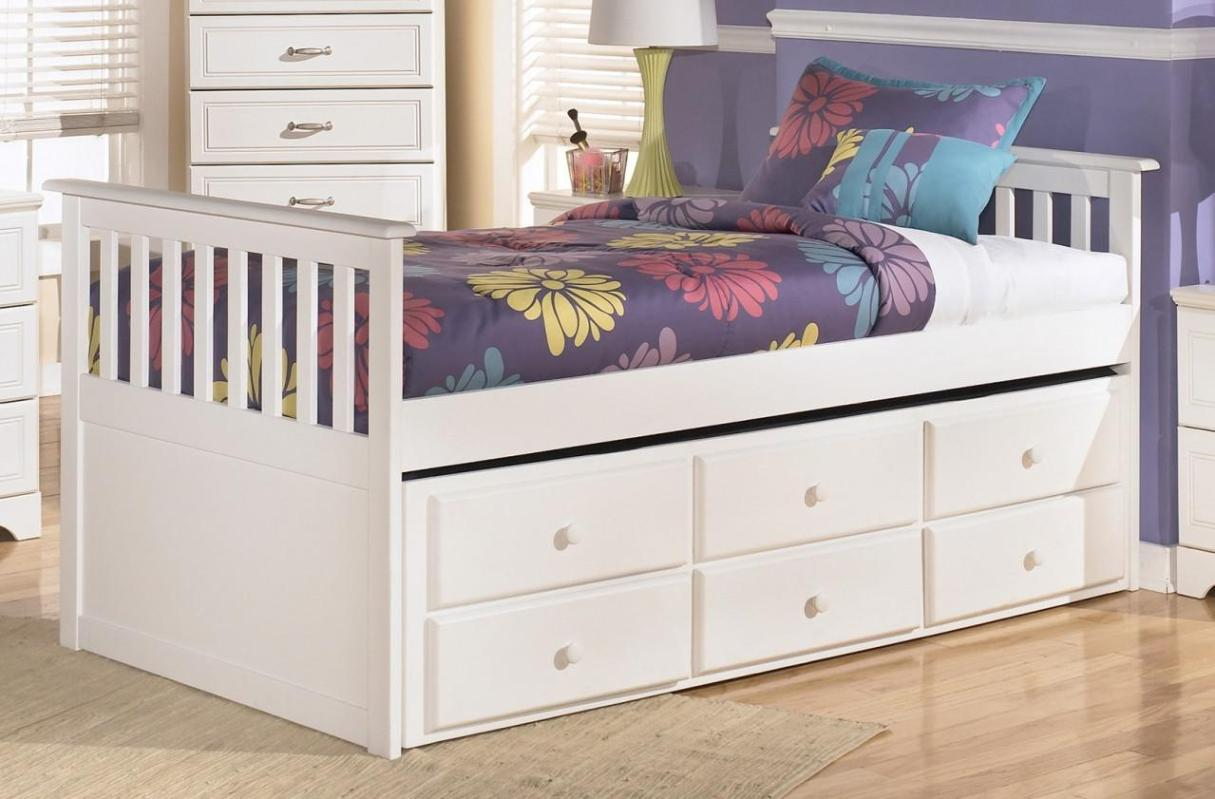 Image of: Twin Bed Frame With Storage