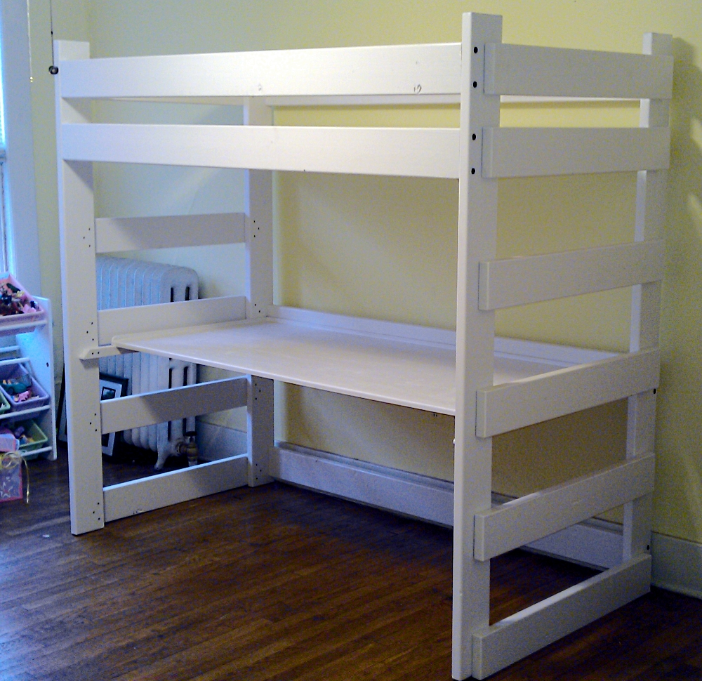 Image of: Twin Loft Bed With Desk Canada
