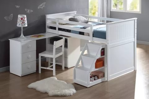 Image of: Twin Loft Bed With Desk Cheap