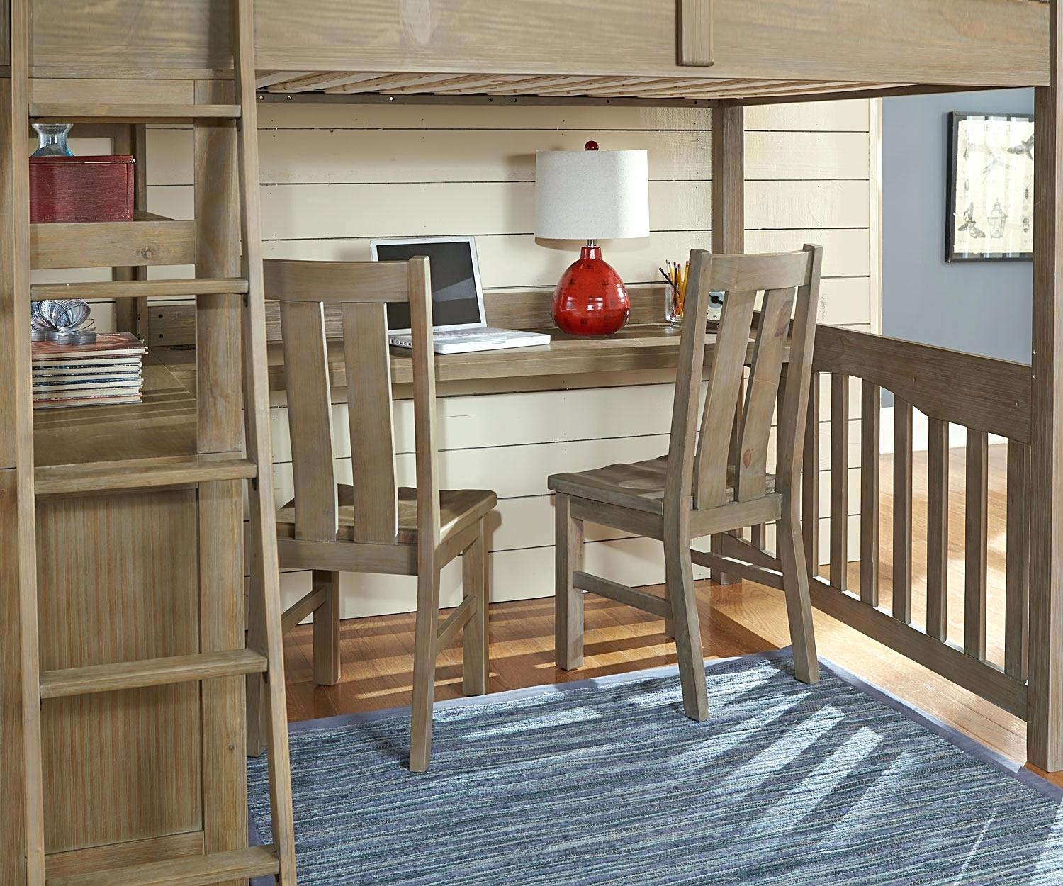 Image of: Twin Loft Bunk Bed With Desk
