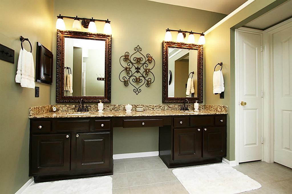 Image of: Twin Oil Rubbed Bronze Mirrors Bathroom