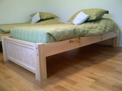 Image of: Twin Platform Bed Frame White