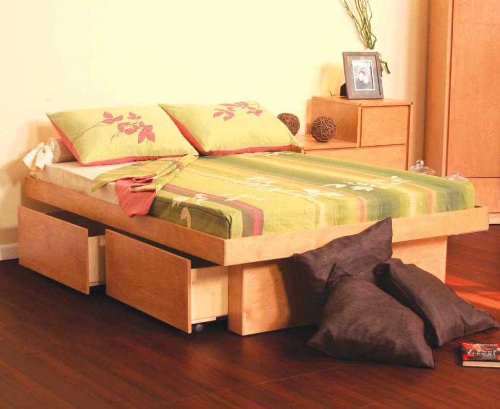 Image of: Twin Platform Bed Frame With Drawers