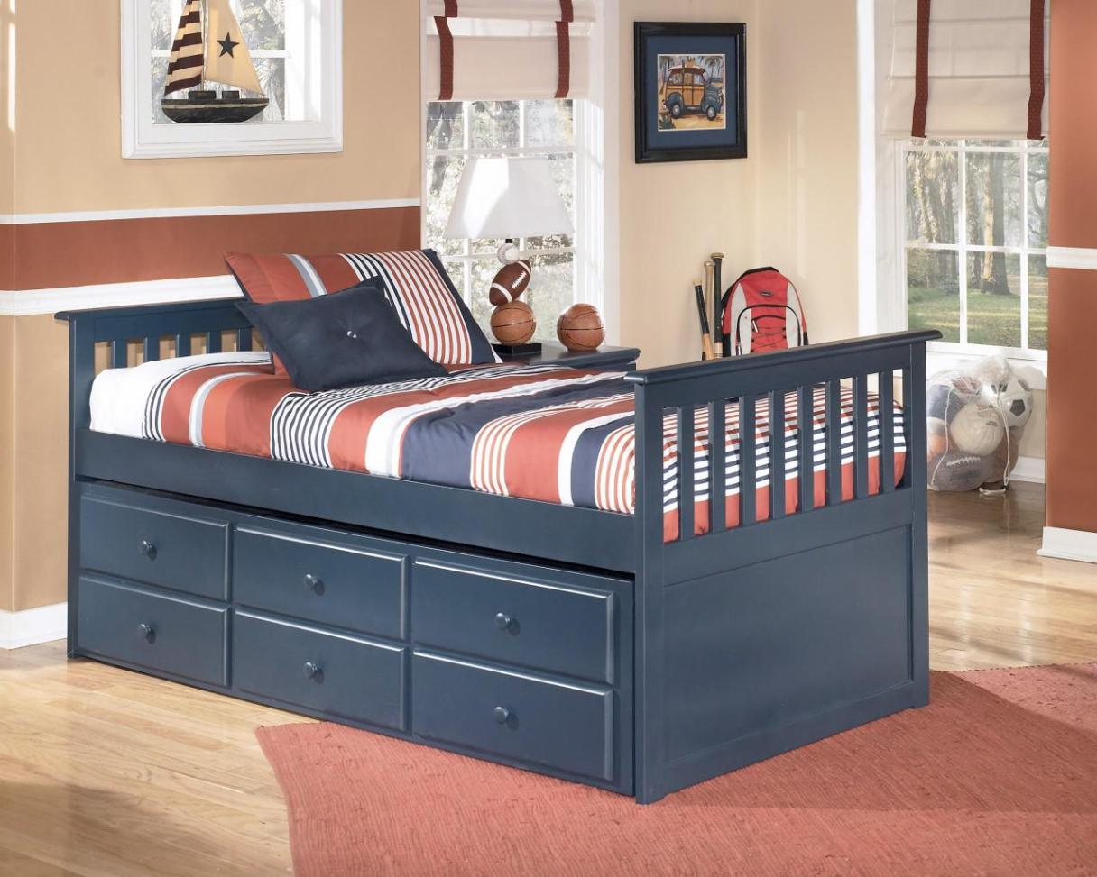 Image of: Twin Size Bed Frame With Drawers