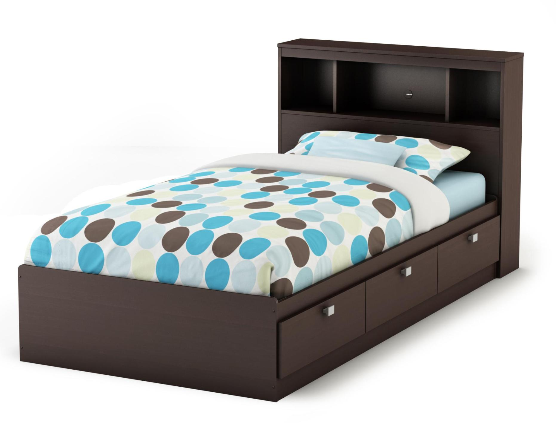 Image of: Twin Size Storage Beds With Drawers
