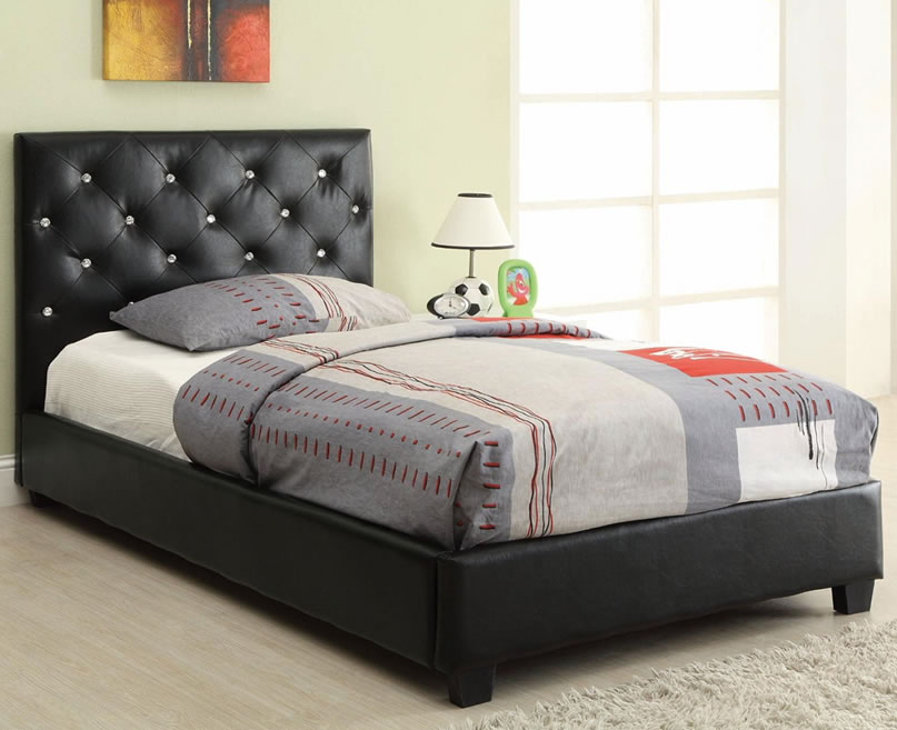 Image of: Best Twin Upholstered Headboard Black Size