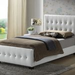 Twin Upholstered Headboard Brown