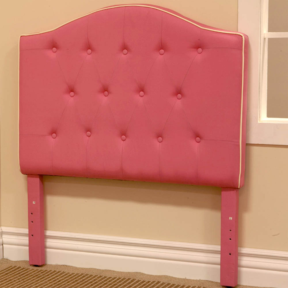 Image of: Twin Upholstered Headboard Pink Color