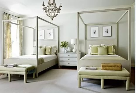 Image of: Two Twin Beds For Guest Room