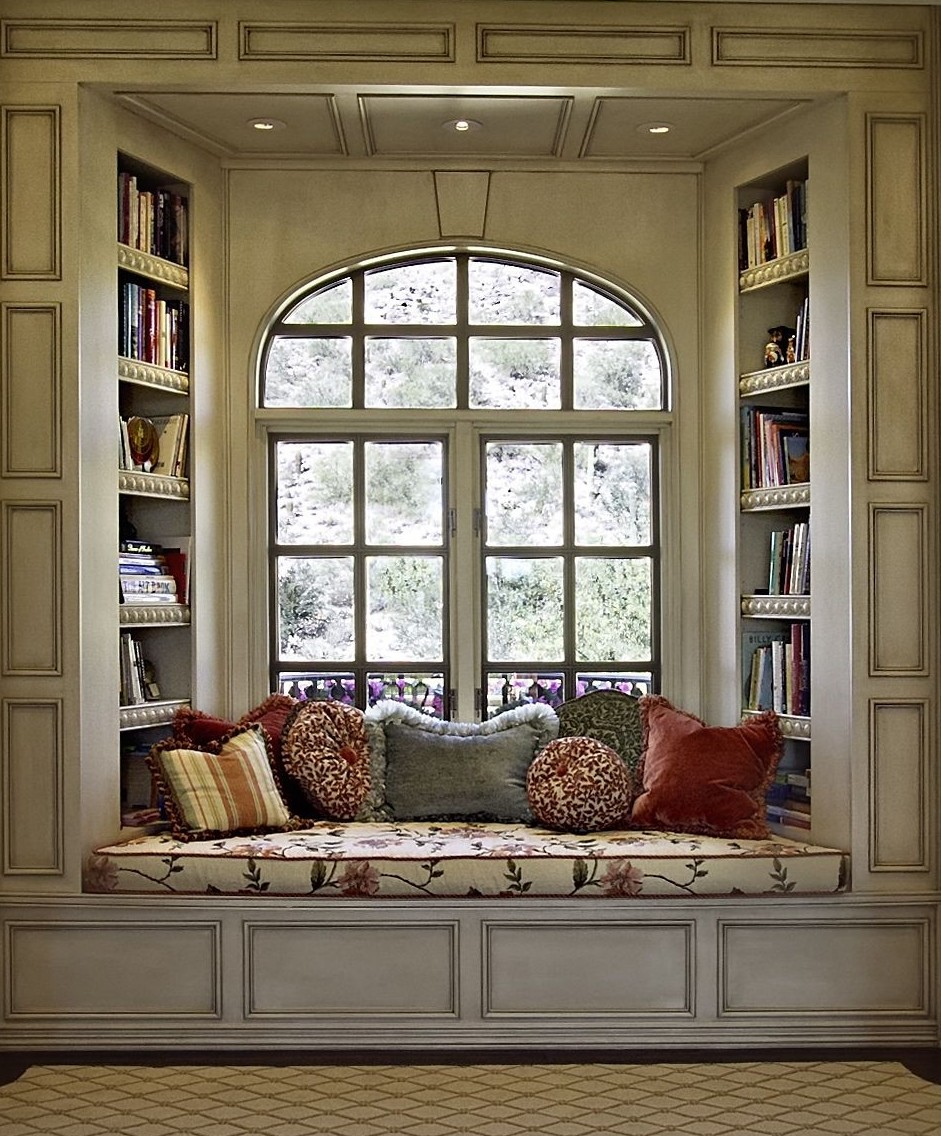 Image of: Under Window Bookcase Bench