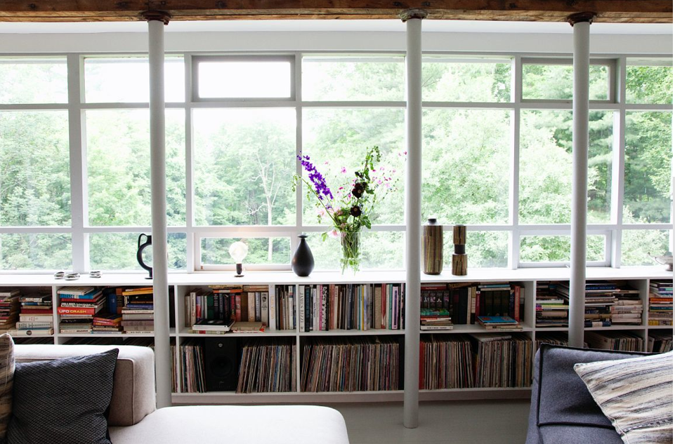 Image of: Under Window Bookcase Plans green