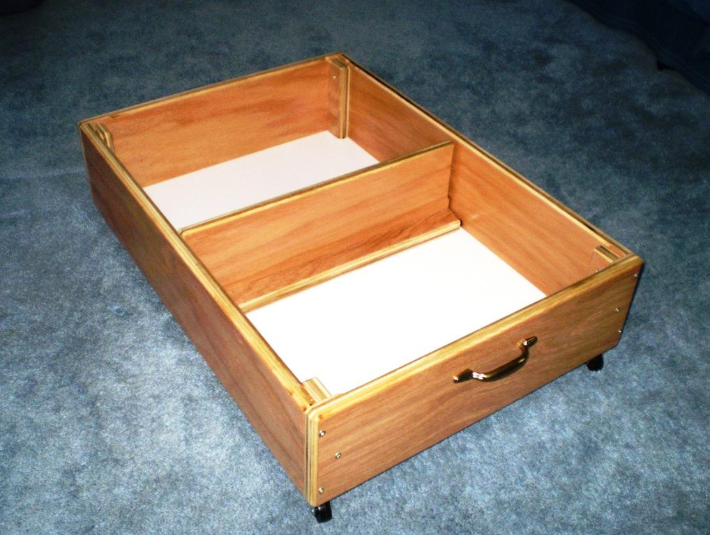Image of: Underbed Storage With Wheels And Lid