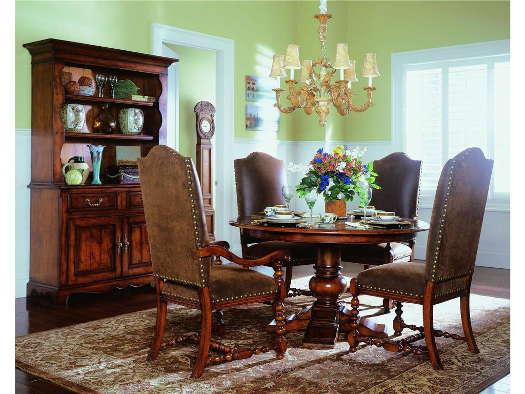 Image of: upholstered arm chair dining room