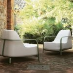 upholstered arm chair white