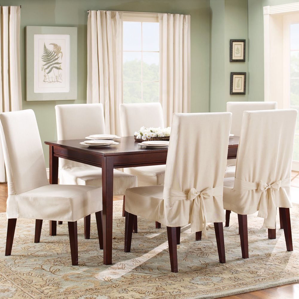 Image of: upholstered dining chair covers