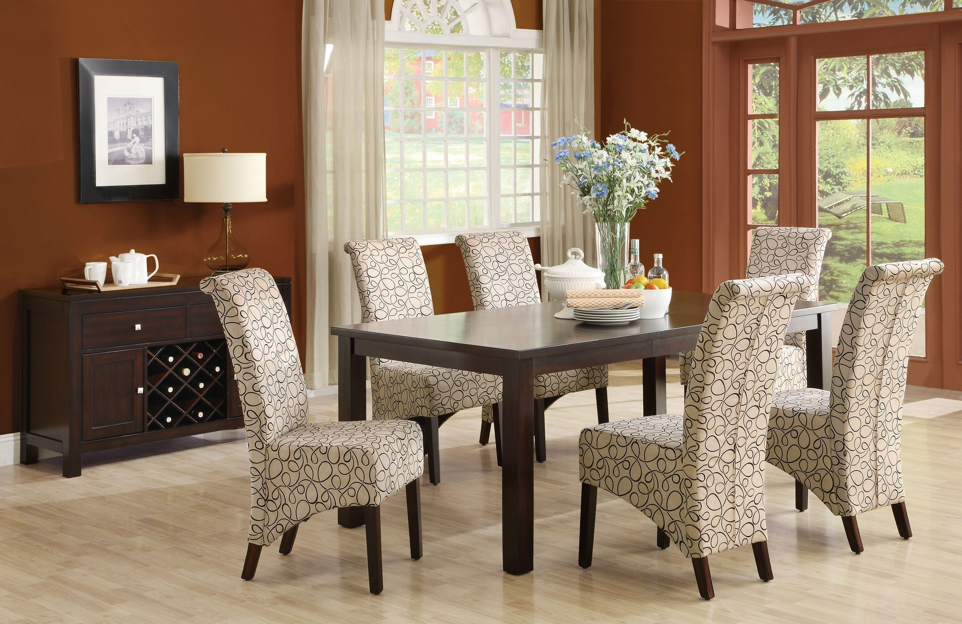 Image of: upholstered dining chair ideas