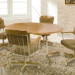 Upholstered Dining Chairs with Casters