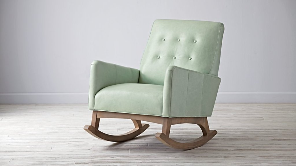 upholstered rocking chair antique