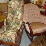upholstered rocking chair for kids idea