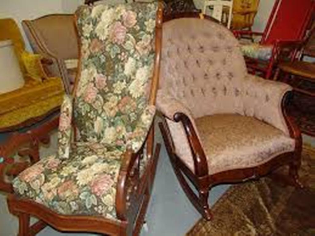Image of: upholstered rocking chair for kids idea