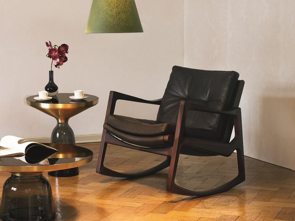 Image of: upholstered rocking chair for living room