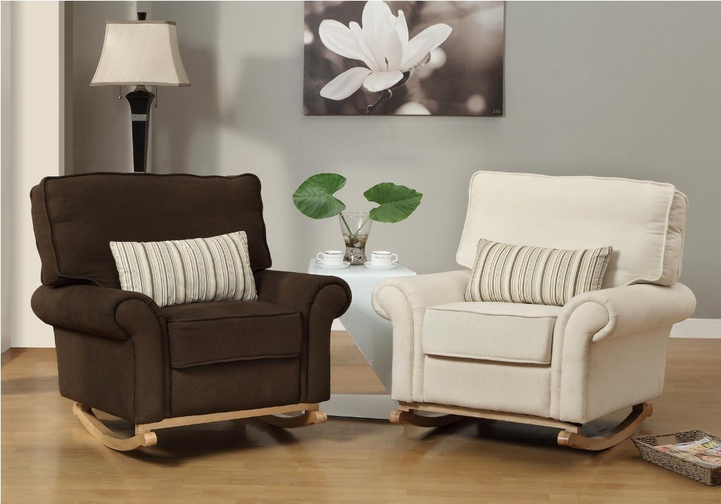 Image of: upholstered rocking chair for nursery ideas