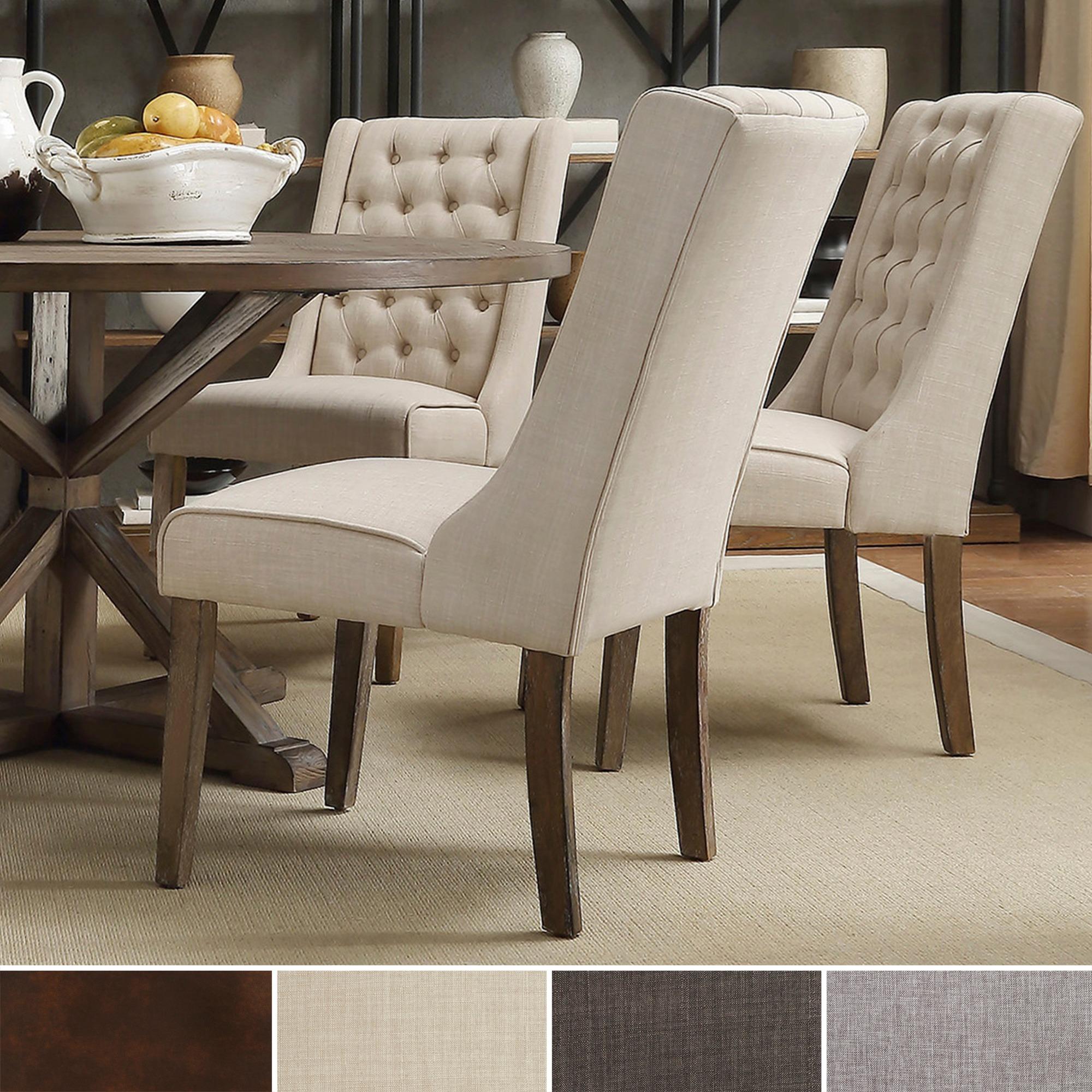 Image of: Upholstered Wingback Dining Chair