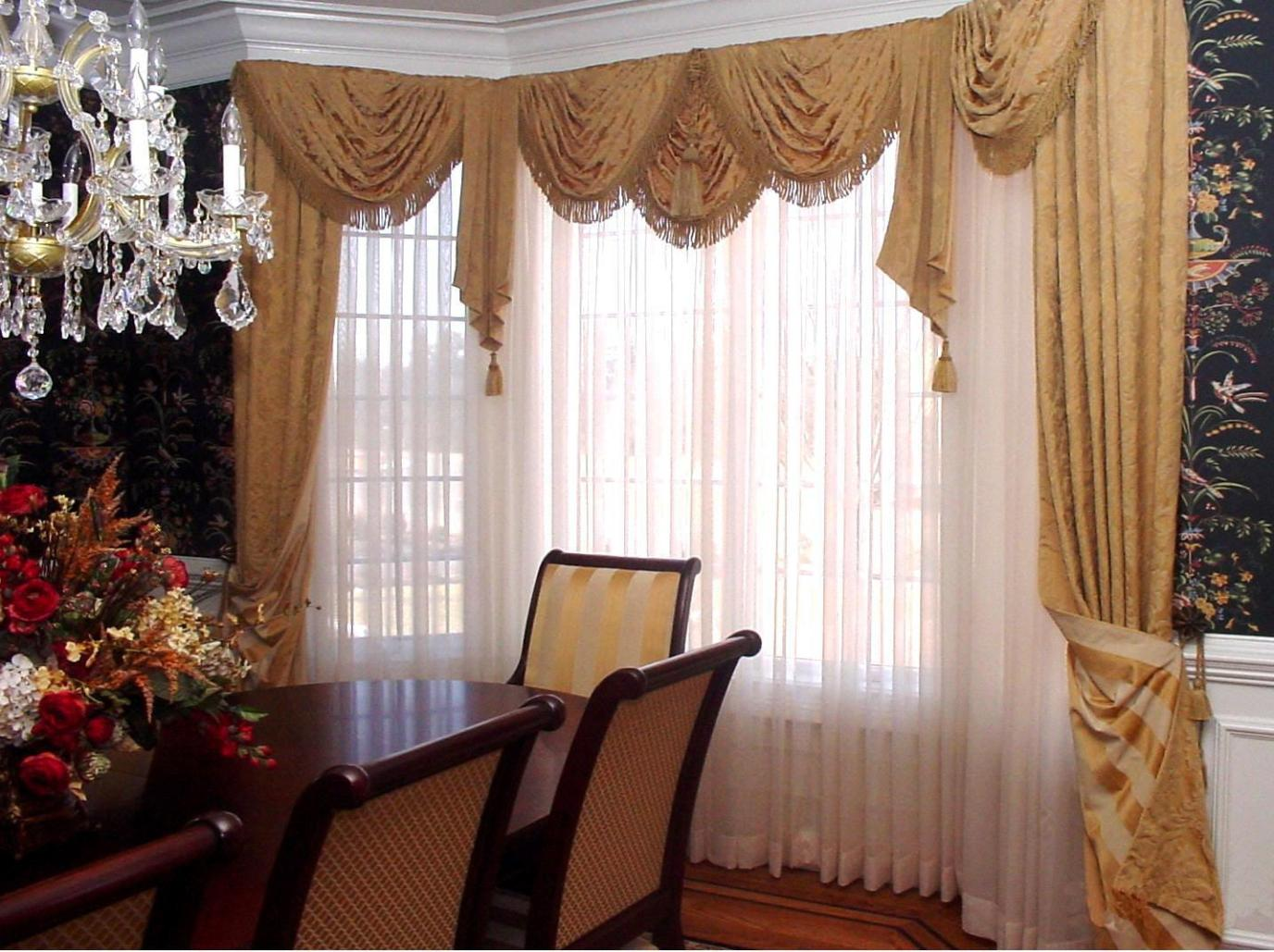 Image of: Valances Window Treatments For Living Room