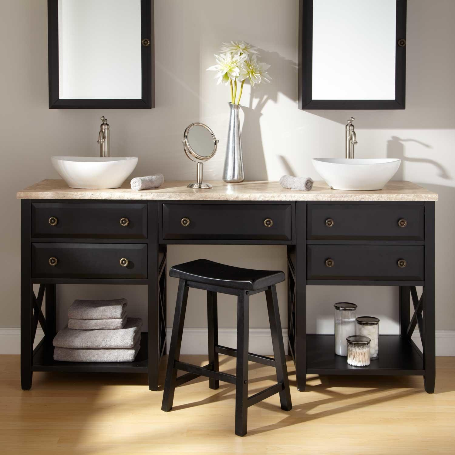 Image of: Vanity Table with Mirror and Bench Design Ideas