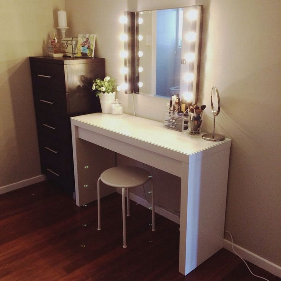Image of: Vanity Wall Mirror Makeup