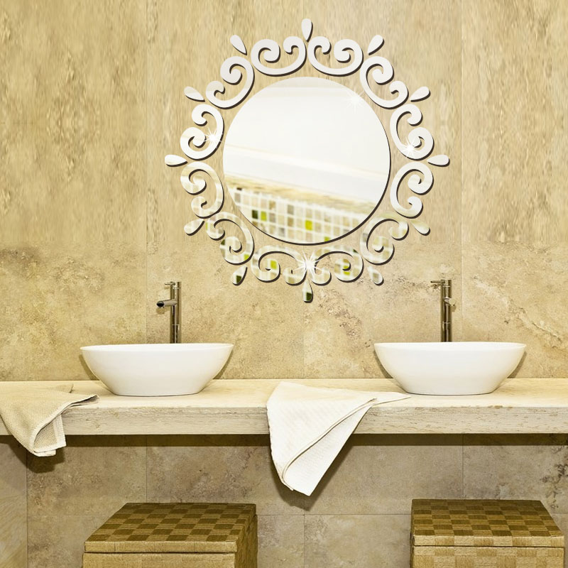 Image of: Vanity Wall Mirror Round