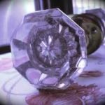 Vintage Glass Door Knobs Purple