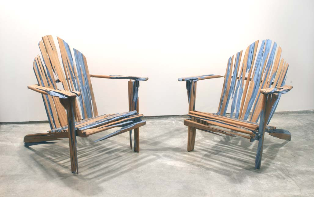 Image of: vintage wooden adirondack chairs