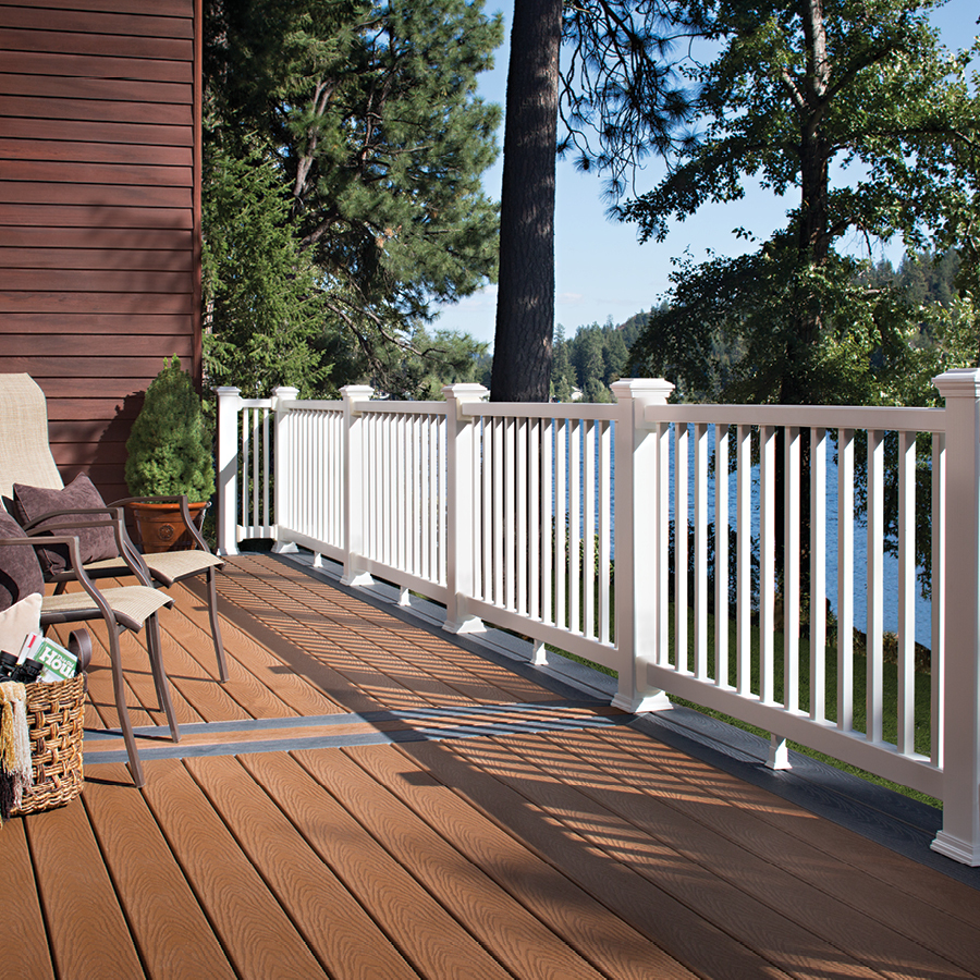 Image of: Vinyl Deck Railing Design