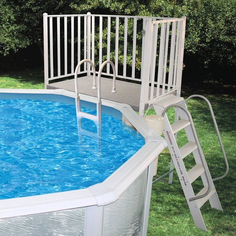 Image of: Vinyl Deck Railing for Pool