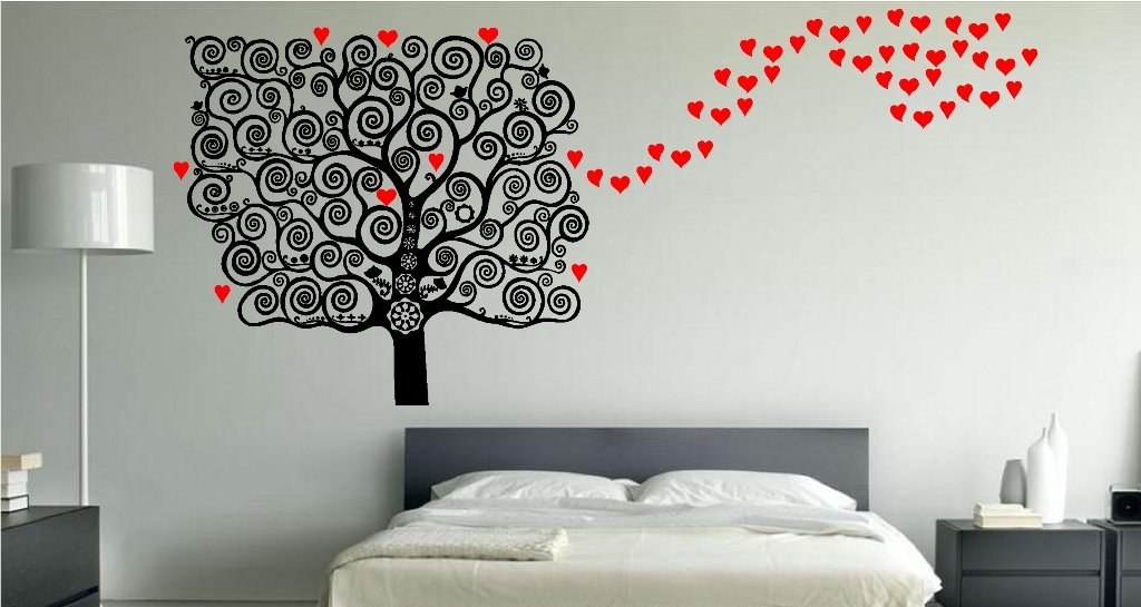 Image of: Wall Decals For Bedroom Indian
