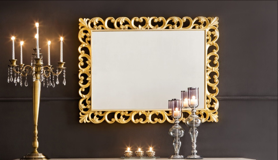 Image of: Wall Mirror Decor Gold Frame