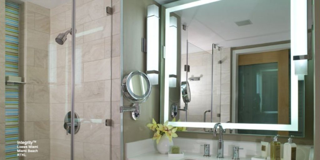 Image of: Wall Mount Makeup Mirror Battery