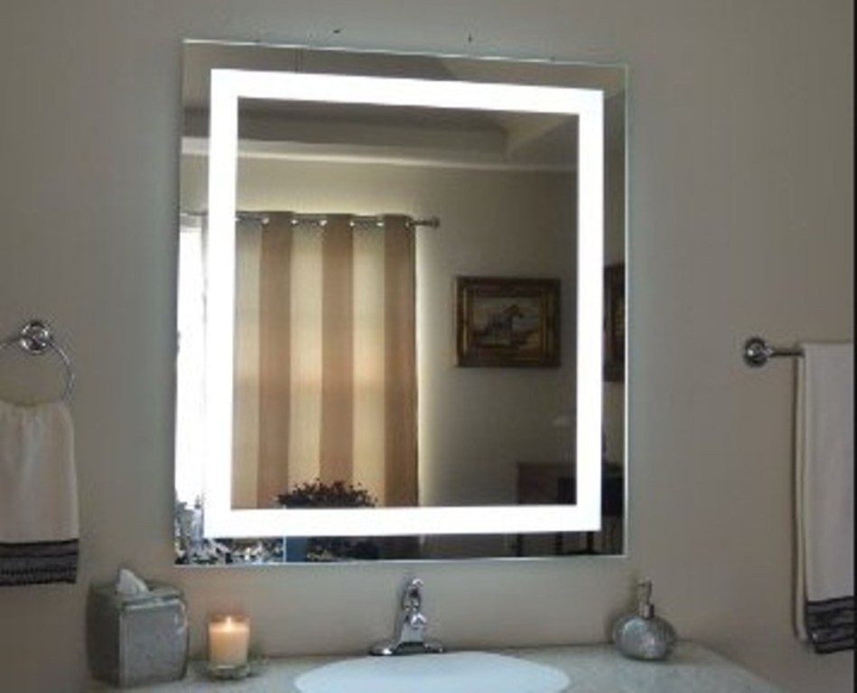 Image of: Wall Mount Makeup Mirror Lighted