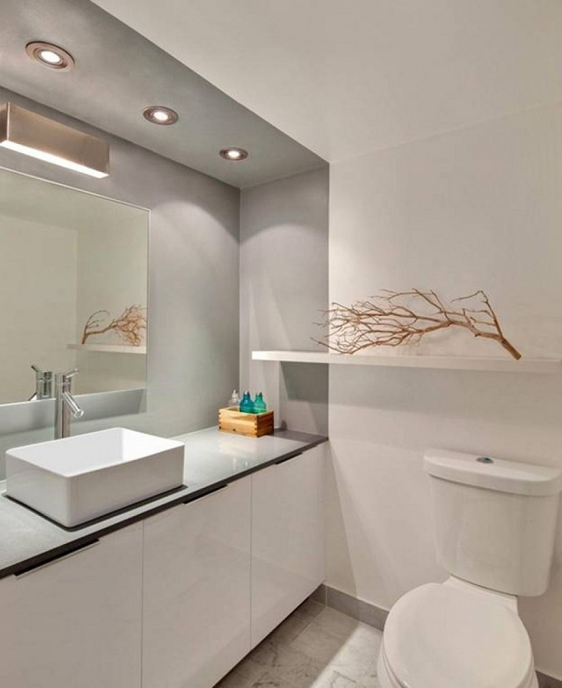 Image of: Wall Small Bathroom Mirrors
