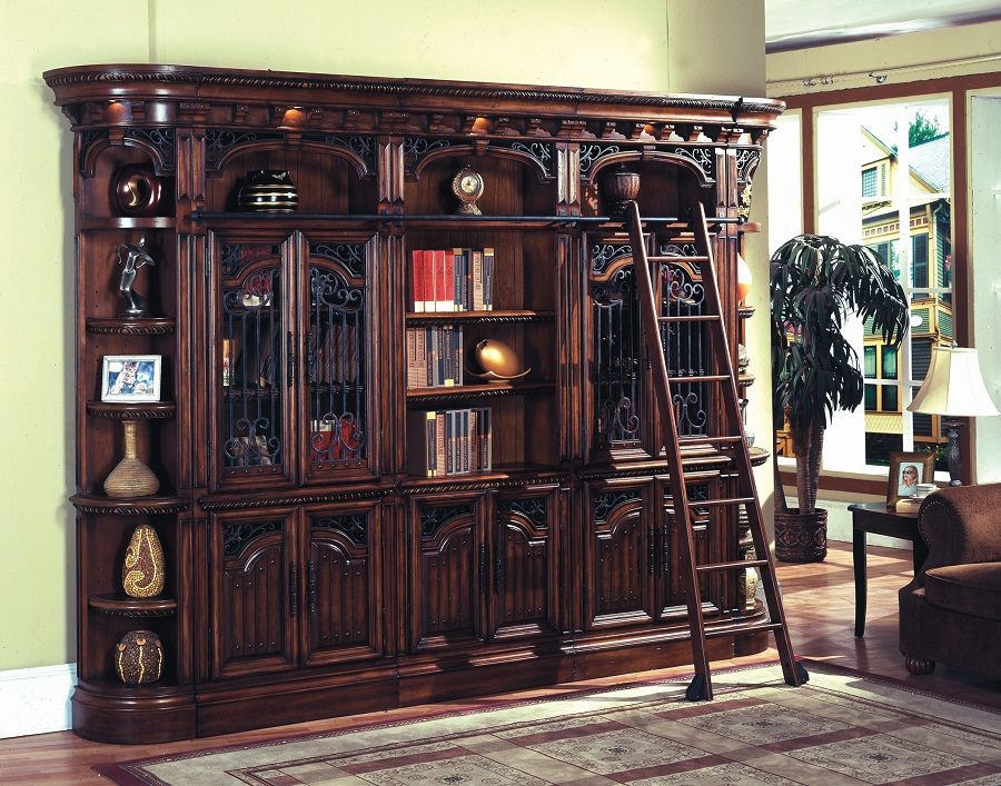 Image of: Wall Unit Bookcase Doors