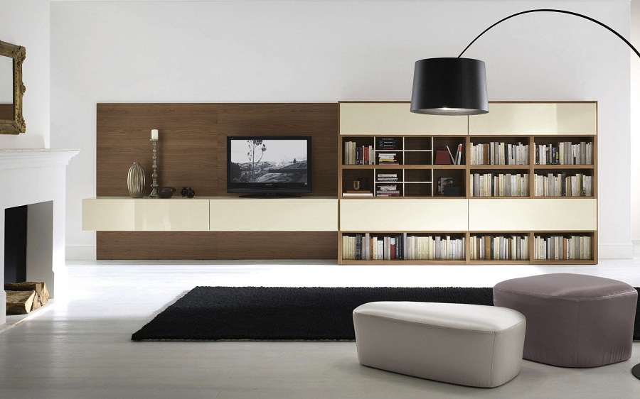 Image of: Wall Unit Bookcase TV